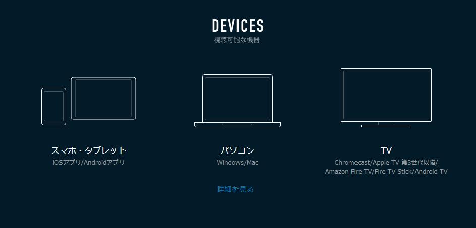 視聴方法(パソコン、スマホ、タブレット)を比較