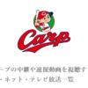 【無料】広島カープの中継や速報動画を視聴する方法!スマホ・ネット・テレビ放送一覧