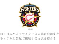 【無料】日本ハムファイターズの試合中継まとめ!ネット・テレビで日ハムの放送で視聴する方法を紹介!DAZNがおすすめ