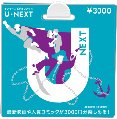 U-NEXTポイントカード3000