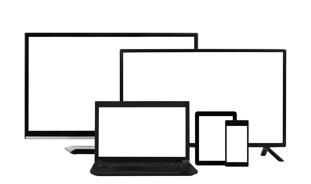 テレビ、パソコン、スマホ、タブレット