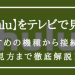 【テレビ視聴方法】Hulu トップ2