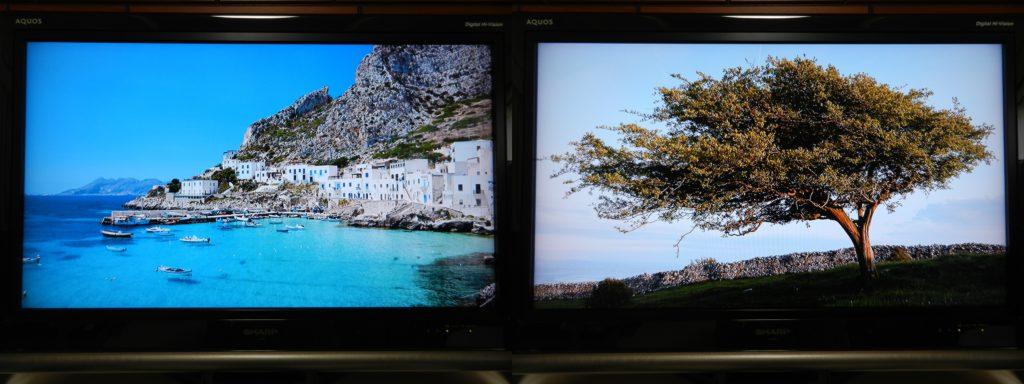 dTV 実際使用画像 スクリーンセーバー