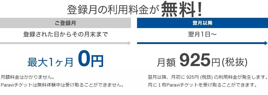 Paravi(パラビ) 無料お試し期間図2
