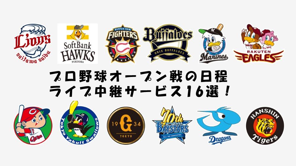 プロ野球オープン戦の日程とライブ中継サービス16選!