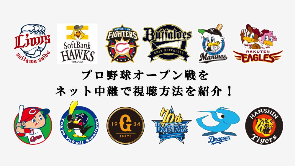 プロ野球オープン戦をネット中継で視聴する方法を紹介!