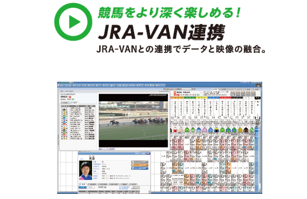 JRA-VANとJRAレーシングビュアーの連携